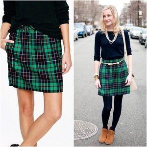NWOT J. Crew Sidewalk Skirt in Dublin Plaid